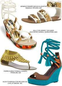 beach-sandals-vacation-fashion-shoes-footwear-wedge-gladiator-thong