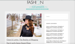 My Feature in FashionCaravan!